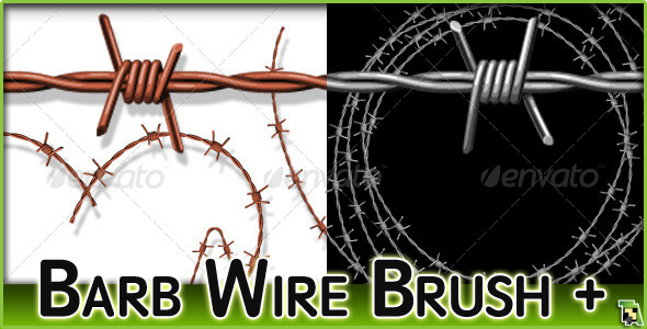Barbed Wire Pattern Brushes With Ready-Made Assets