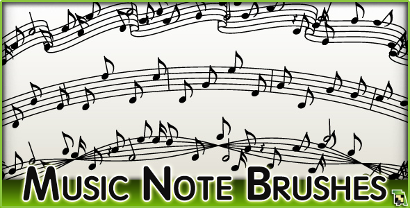 Music Note Brush Set +