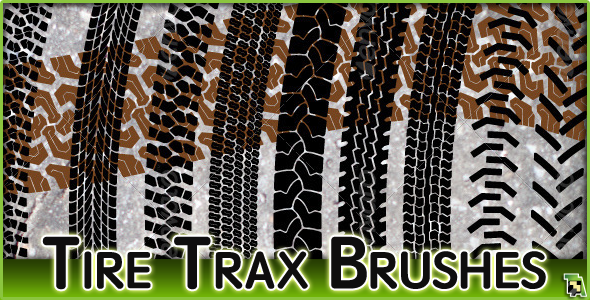 10 Tire Tracks Brush Set