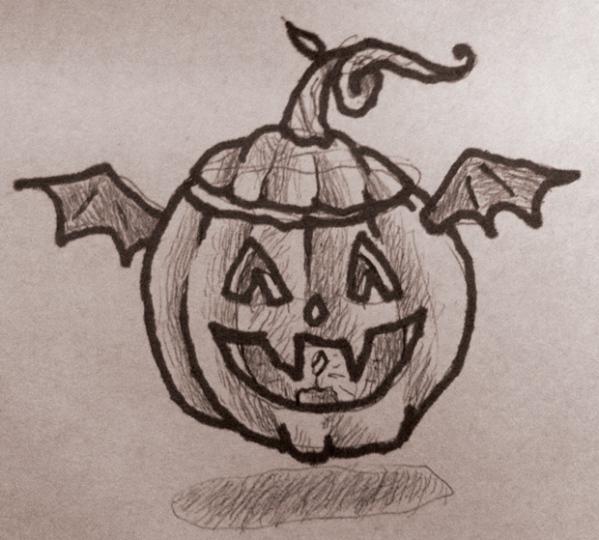 HalloweenDoodleTradigitalArt