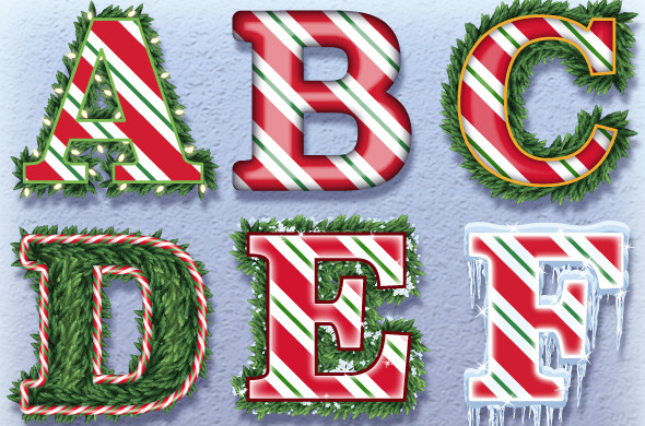 Candy Cane Graphic Styles