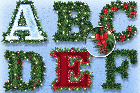 Christmas Garland Graphic Styles