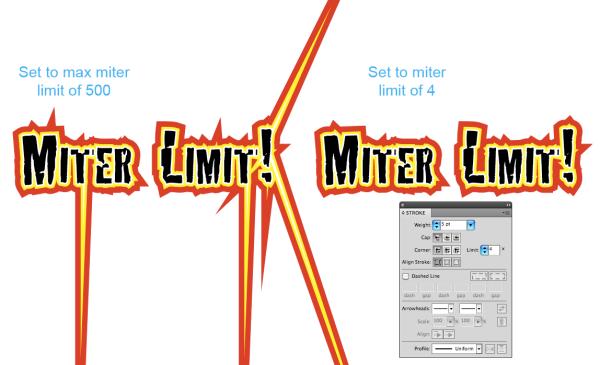 When Miter Limits turn good art bad.