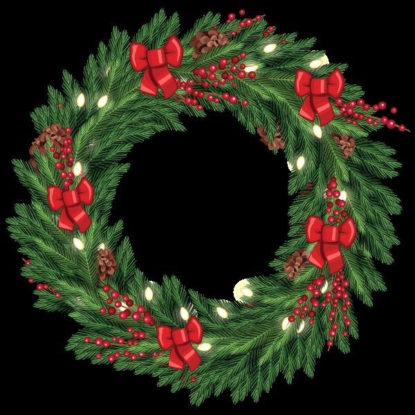Free Christmas Wreath Graphic from TradigitalArt ...
