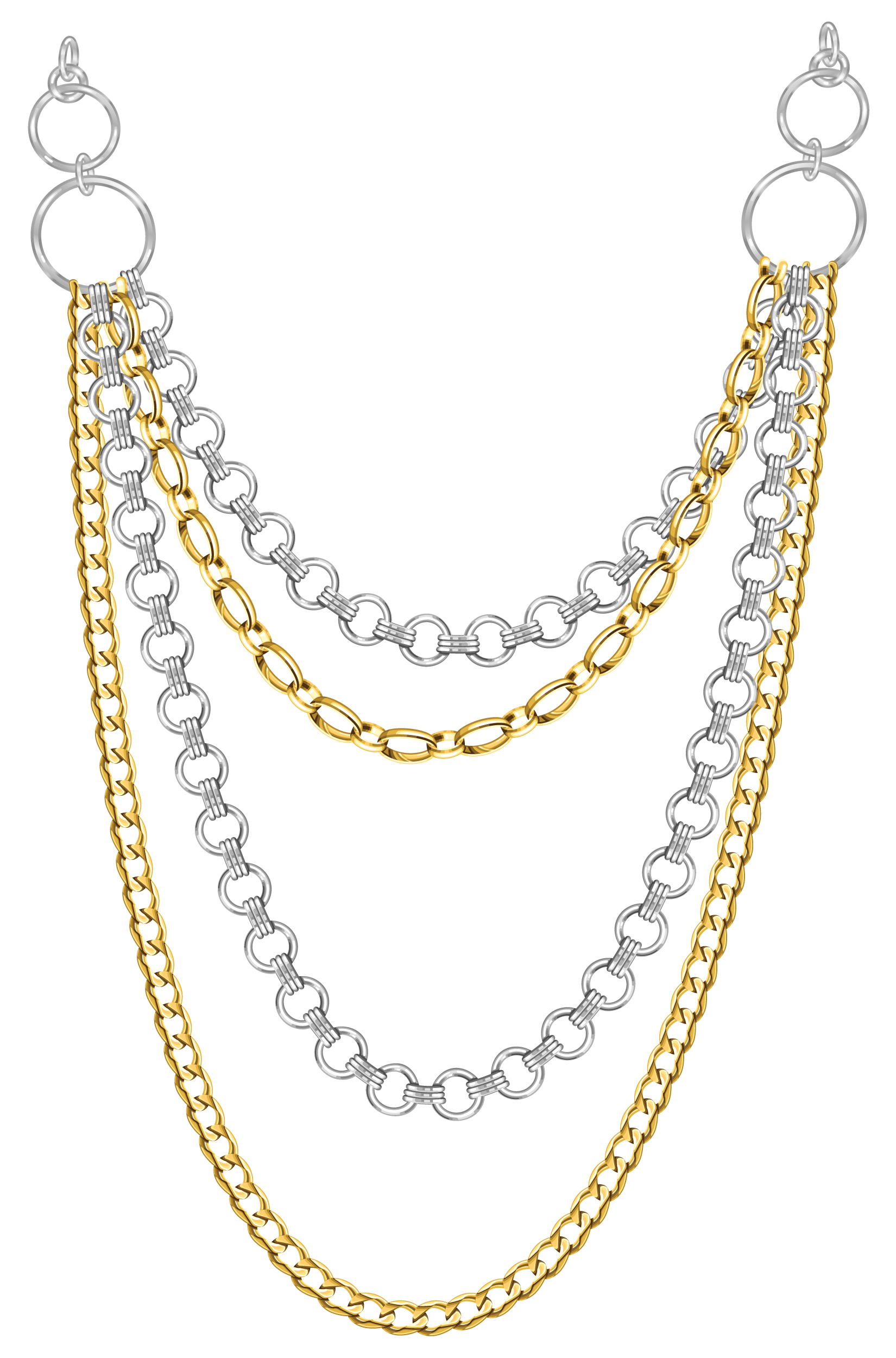 free multistrand jewelry necklace graphic tradigital