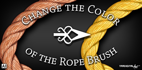 How do you change the color of the rope brush? (Adobe