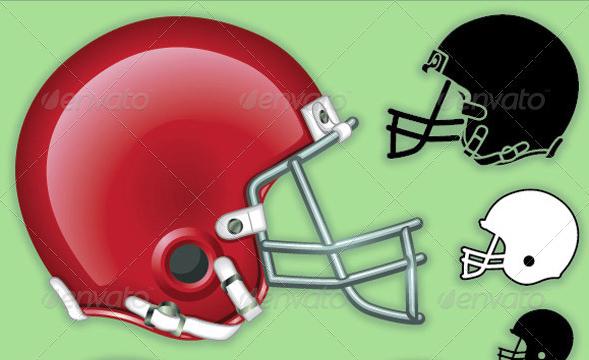 Football Helmet Graphic Set
