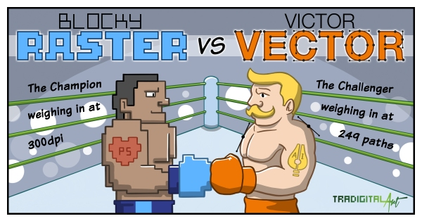 Raster Vs Vector Comic.